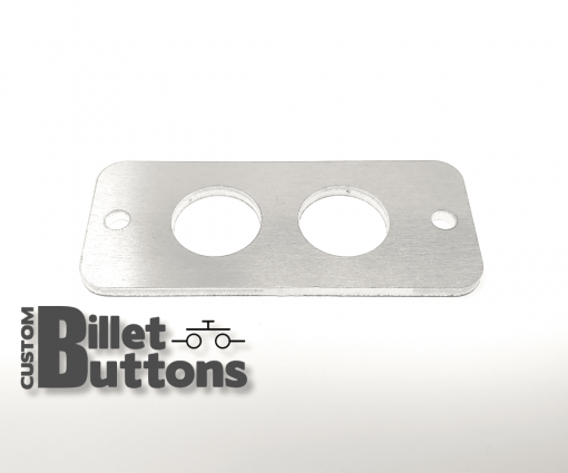 Brushed Aluminum Mounting Panel for 19mm Billet Buttons