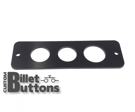 Black Anodized Mounting Panel for 22-25mm Billet Buttons