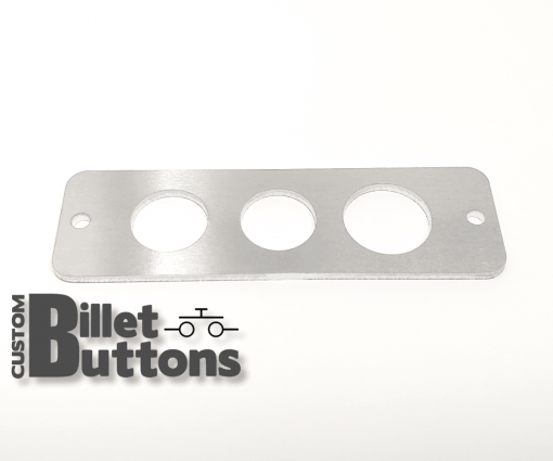 Brushed Aluminum Mounting Panel for 22-25mm Billet Buttons