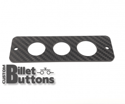 Carbon Fiber Mounting Panel for 22-25mm Billet Buttons