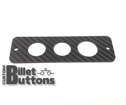 Carbon Fiber Mounting Panel for 22-25mm Billet Buttons