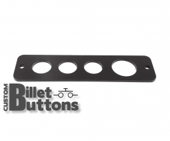 Black Anodized Mounting Panel for 19-25mm Billet Buttons