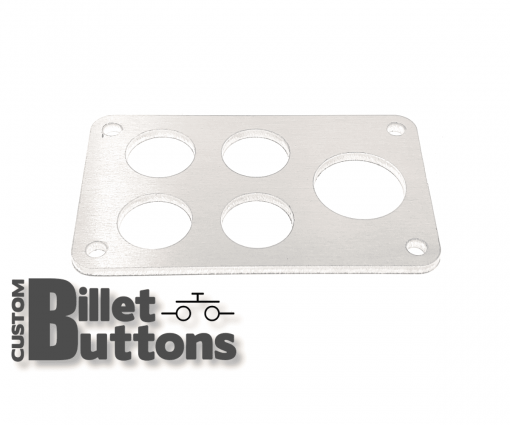 Brushed Aluminum Mounting Panel for 19-25mm Billet Buttons