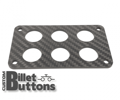 Carbon Fiber Mounting Panel for 19mm Billet Buttons