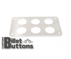 Brushed Aluminum Mounting Panel for 22mm Billet Buttons