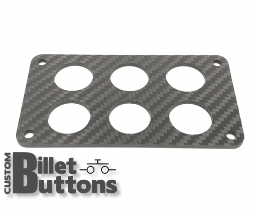Carbon Fiber Mounting Panel for 22mm Billet Buttons