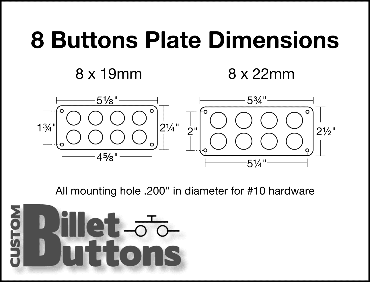 Panel For 8x Billet Buttons  U2022 Custom Billet Buttons