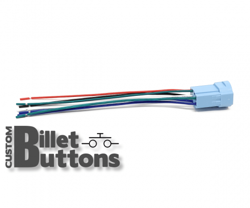Pigtails Connector for 25mm Billet Buttons with RGB LED