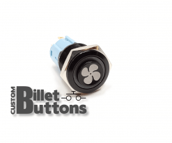 FAN Symbol 16mm Custom Billet Buttons