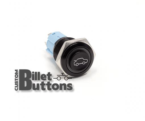 TRUNK POP Symbol 16mm Custom Billet Buttons