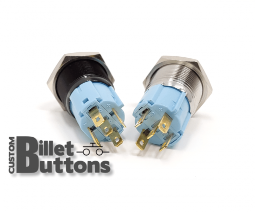 16mm Custom Billet Buttons