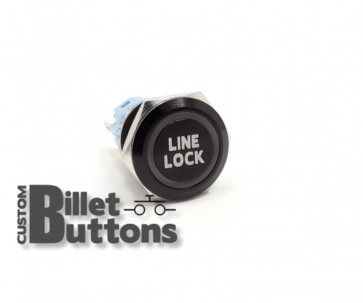 LINE LOCK 19mm Custom Billet Buttons