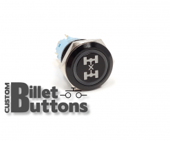 CENTER DIFF LOCK 19mm Custom Billet Buttons