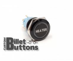 Heater 19mm Laser Etched Billet Buttons