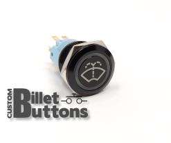Windshield Washer 19mm Laser Etched Billet Buttons