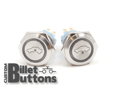 AIR RIDE SUSPENSION UP DOWN 19mm Custom Billet Buttons