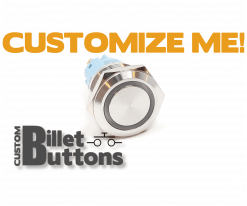 19mm Custom Billet Buttons
