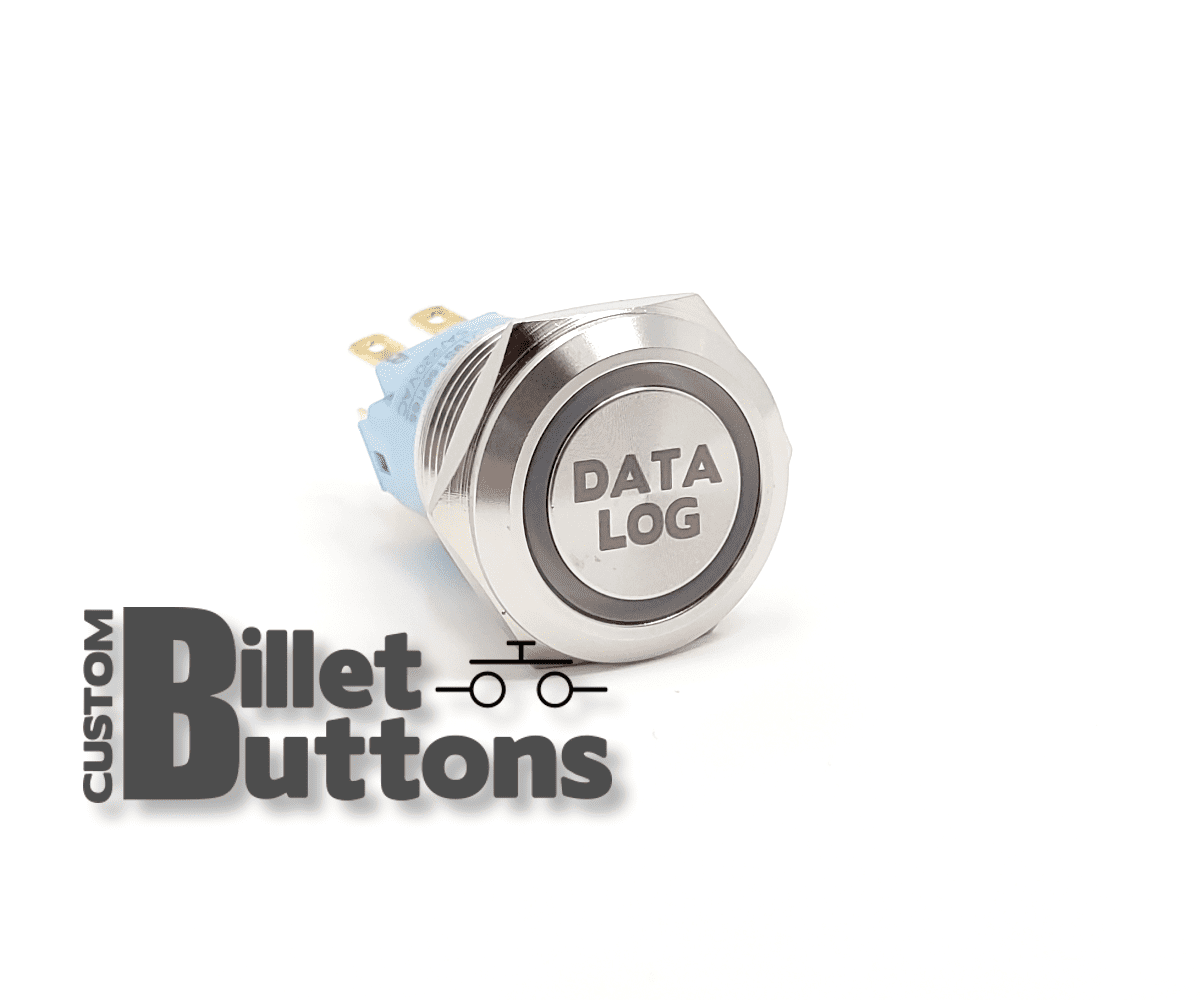22mm Data Log Etched Buttons  U2022 Custom Billet Buttons