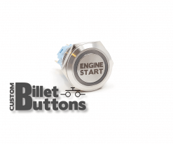 ENGINE START 19mm Custom Billet Buttons
