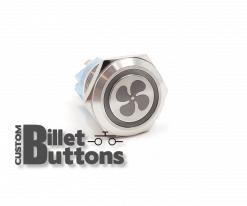 FAN SYMBOL 19mm Laser Etched Custom Billet Buttons
