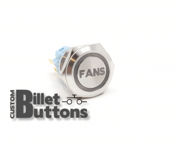 FANS 19mm Custom Billet Buttons