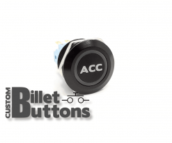 ACC ACCESSORIES 22mm Custom Billet Buttons