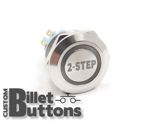 2 STEP 22mm Custom Billet Buttons