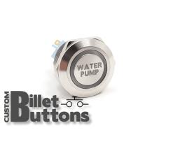 WATER PUMP 22mm Custom Billet Buttons