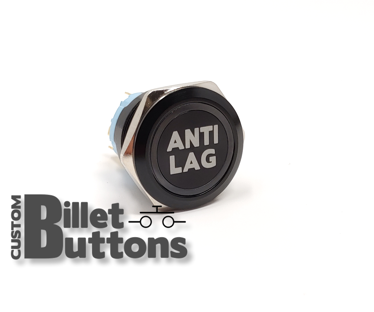 Antilag 25mm Laser Etched Billet Buttons