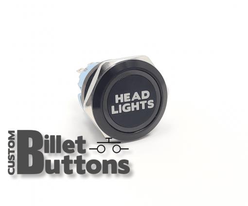 HEAD LIGHTS 25mm Custom Billet Buttons