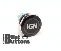 IGN 25mm Laset Etched Billet Buttons