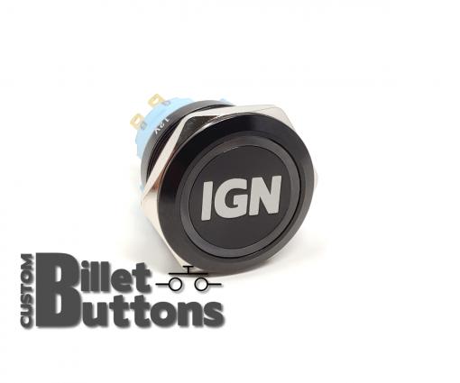 IGN 25mm Laset Etched Billet Buttons