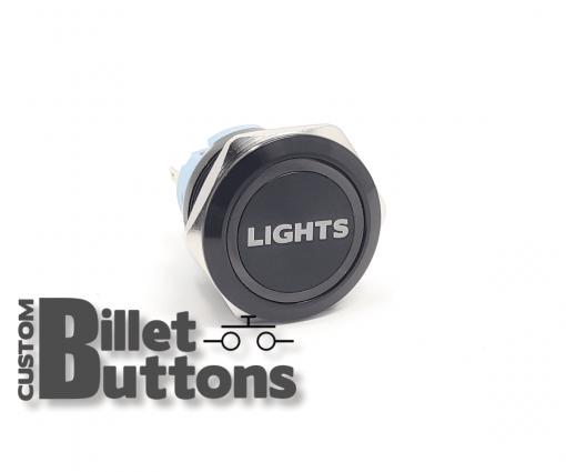 LIGHTS 25mm Custom Billet Buttons