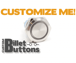 25mm Custom Billet Buttons