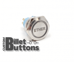 ETHER 25mm Custom Billet Buttons