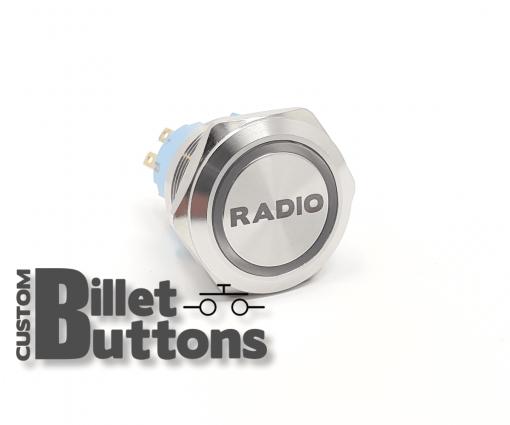 RADIO 25mm Custom Billet Buttons