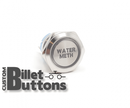 WATER METH 25mm Custom Billet Buttons