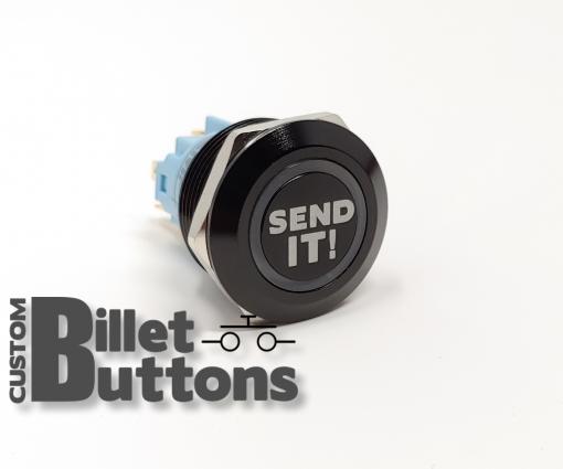 22mm Send It Laser Etched Billet Buttons