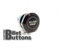 22mm Water Pump Laser Etched Billet Buttons