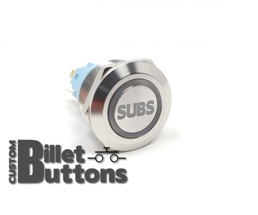 SUBS 22mm Laser Etched Billet Buttons