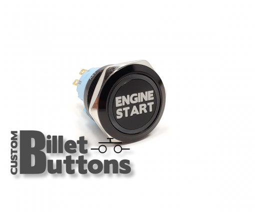 25mm Engine Start Laser Etched Billet Buttons