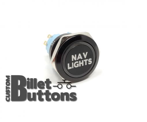 NAV LIGHTS 25mm Laser Etched Billet Buttons