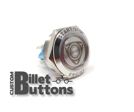 Rotary Engine Start 30mm Laser Etched Billet Buttons