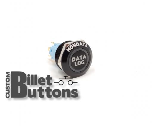 HONDATA DATALOG 22mm Laser Etched Billet Buttons