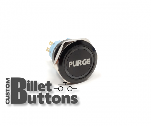 NITROUS PURGE 25mm Laser Etched Billet Buttons