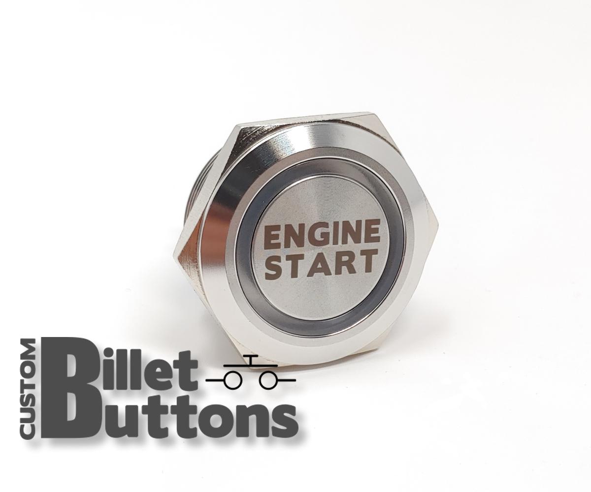Engine Start 30mm Laser Etched Billet Buttons