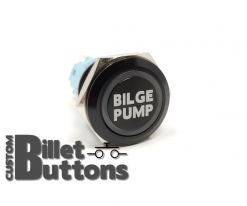 BILGE PUMP 19mm Laser Etched Billet Buttons
