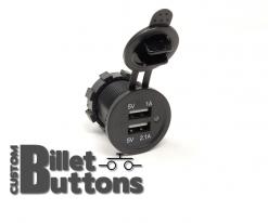12V To 5V USB Socket Connector Pannel Mount