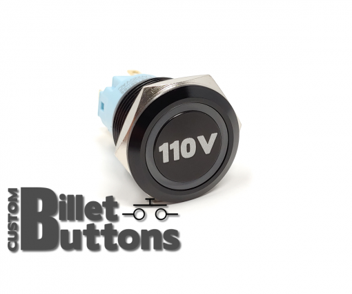 110V 19mm Laser Etched Billet Buttons
