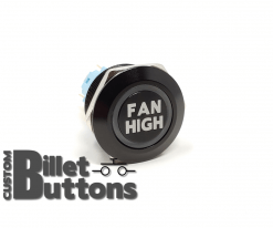 FAN HIGH 22mm Laser Etched Billet Buttons
